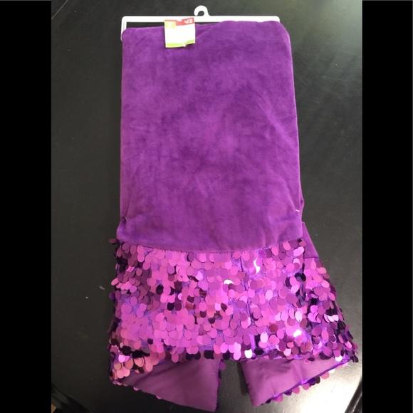Sequins Purple Christmas Tree Skirt Nwt